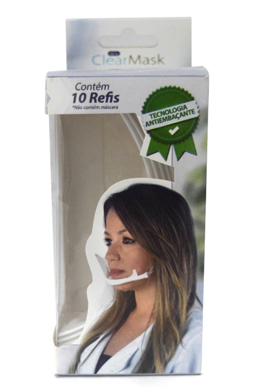 Refil Para Clear Mask - Máscara Protetora Salivar C/ 10Un - Estek