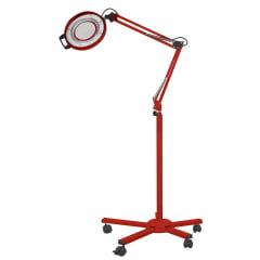 Lupa de Alumínio LED s/ Bandeja Tripe Autovolt - Vermelho